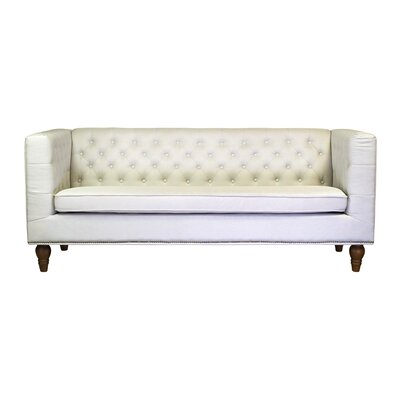 Giselle 3 Seater Chesterfield Sofa Upholstery: Cream