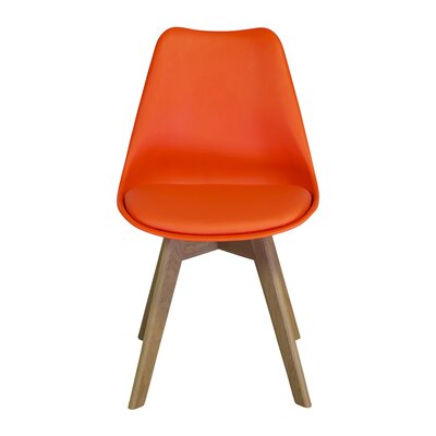 Jacobs Upholstered Dining Chair Upholstery Color: Orange