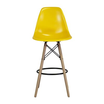Weiss 26.5 Bar Stool Upholstery: Yellow