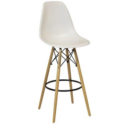 Weiss 26.5 Bar Stool Upholstery: White