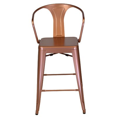 26 inch Bar Stool Color: Bronze