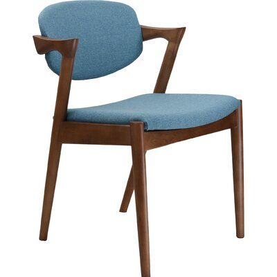 Kai Arm Chair Upholstery: Blue