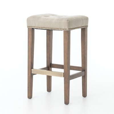 Jamie 30.25 Bar Stool with Cushion Seat Color: Desert Canvas