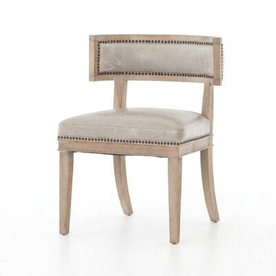 Philomene Genuine Leather Upholstered Dining Chair