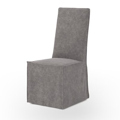 Downey Parsons Chair Upholstery: Stonewash Grey