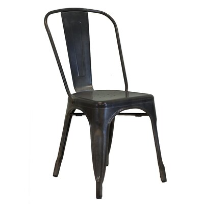 Industrial Side Chair Upholstery: Dark Gun Metal