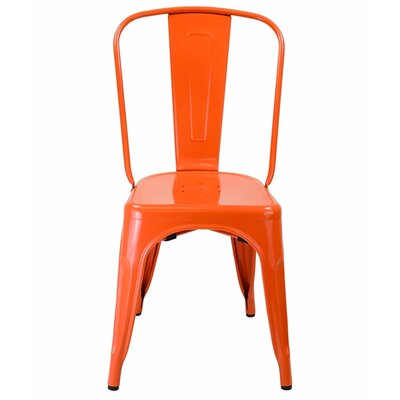 Industrial Side Chair Upholstery: Orange