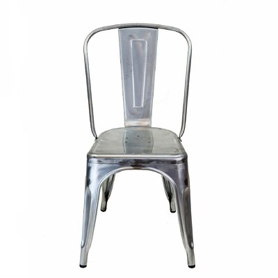 Industrial Side Chair Upholstery: Light Gun Metal