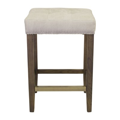 Northampton 26 Bar Stool Upholstery: Beige