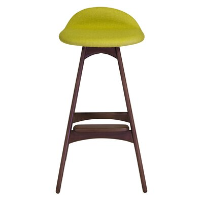 25.5 Bar Stool Seat Color: Green