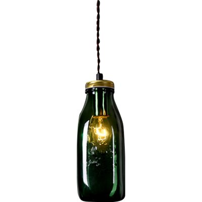 1-Light Design Pendant Shade Color: Green