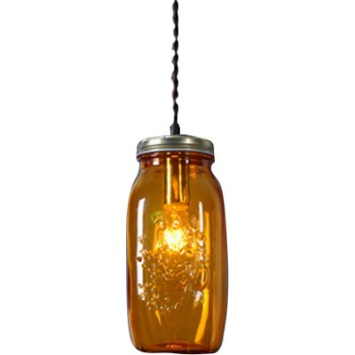 1-Light Design Pendant Shade Color: Amber