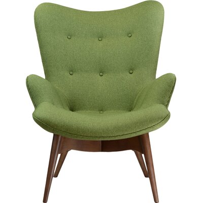 Featherston Style Contour Lounge Chair Color: Green