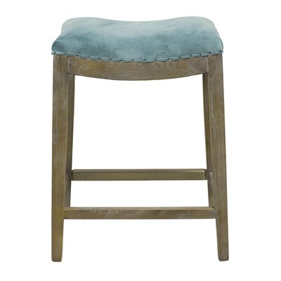 Harper 26 Bar Stool Upholstery: Peacock Green