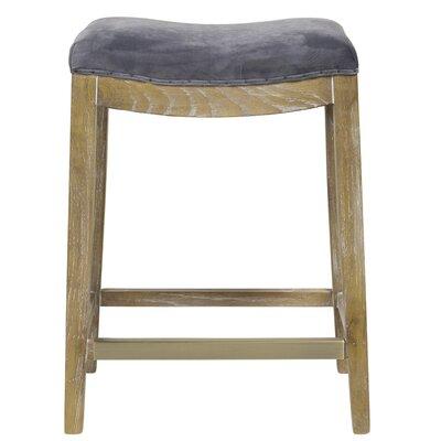 Harper 26 Bar Stool Upholstery: Plum Gray