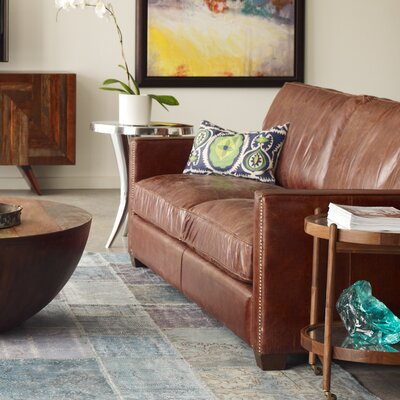 Lark Leather Sofa Upholstery: Cigar