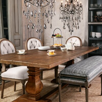Trestle Dining Table Size: 30.75 H x 110 W x 39.25 D