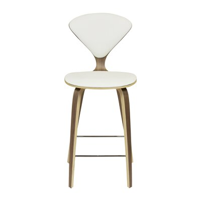 Bar Stool Upholstery: White, Size: 38.5 H x 18 W x 20.5 D