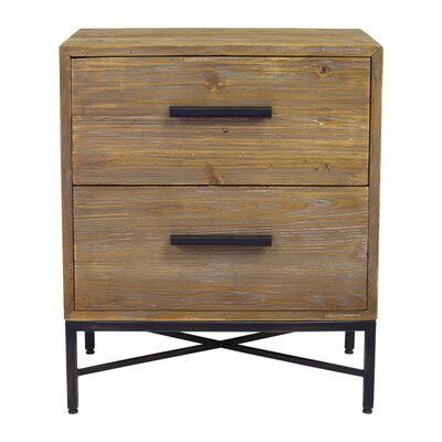 Angora 2 Drawer Nightstand