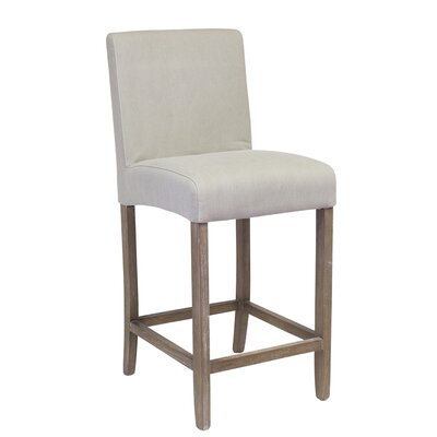 James 25.25 Counter Height Stool Upholstery: Beige