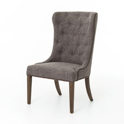 Arvinda Side Chair Upholstery: Charcoal