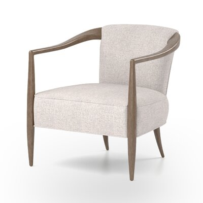 Miramonte Barrel Chair Upholstery: Axis Stone, Finish: Antique Walnut