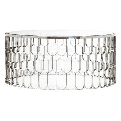 Jewel Coffee Table Color: Polished Steel