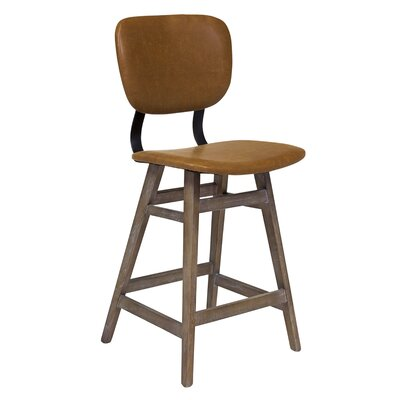 Williford 26 Bar Stool Upholstery: Brown
