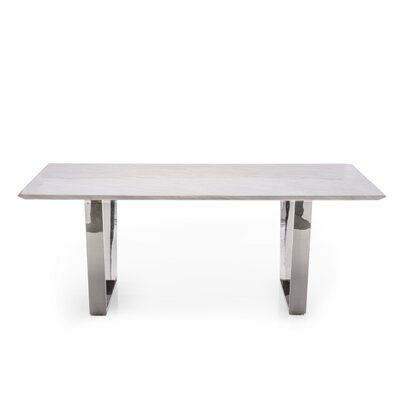 Versailles Dining Table Base Color: Polished Steel