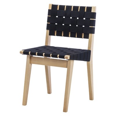 Woven Dining Chair Upholstery : Black