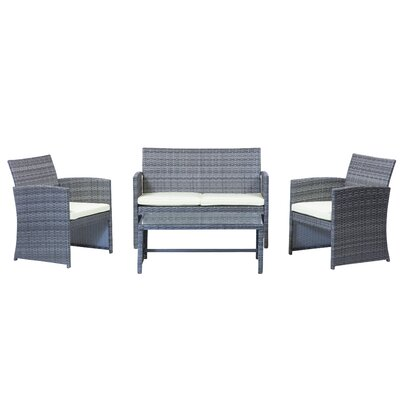 Outdoor 4 Piece Sofa Seating Group