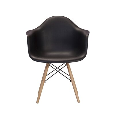 Weiss Arm Chair Color: Black