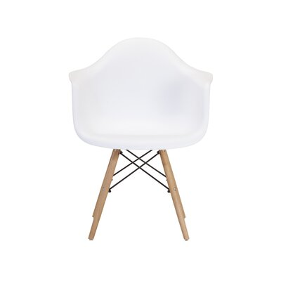 Weiss Arm Chair Color: White