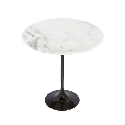 Marble End Table Color: Black