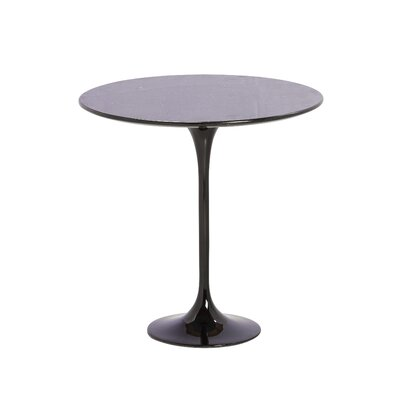 Granite End Table Color: Black