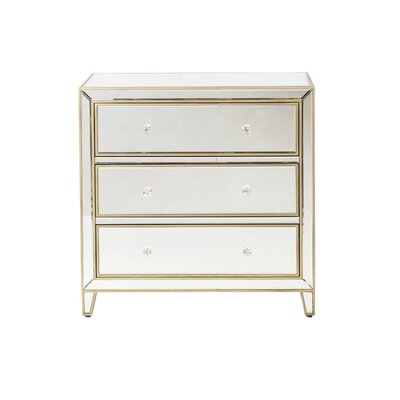 Element Mirror 3 Drawer Nightstand