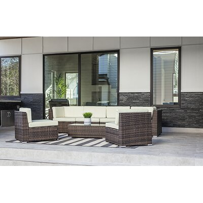 7 Piece Sectional Seating Group with Cushion