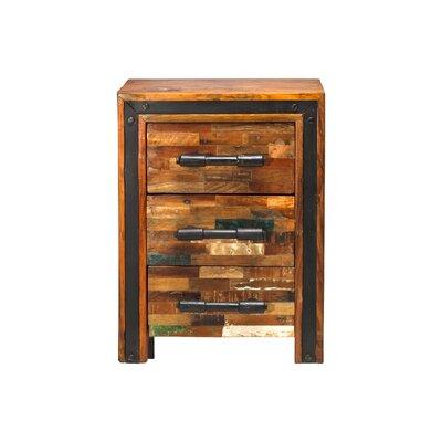 Jaipur Mixed Wood 3 Drawer Nightstand