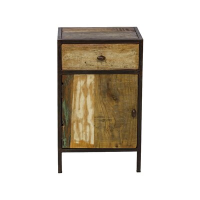 Reclaimed Mango Wood 1 Drawer Nightstand