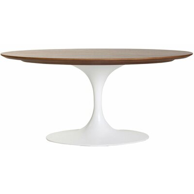 Weiss Oval Coffee Table Color: Walnut