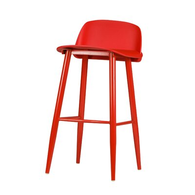 SoCo 30 Bar Stool Finish: Red