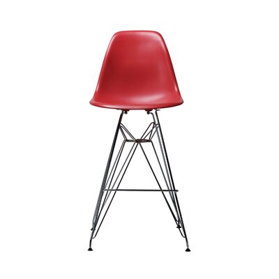 Alexander Mid Century  26.4 Bar Stool Finish: Black