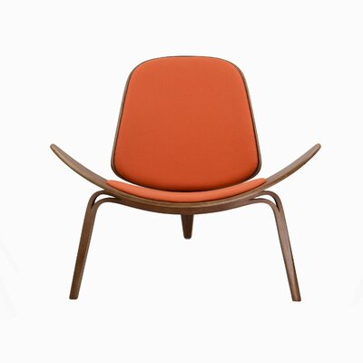 Lucas Lounge Chair Color: Orange