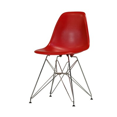 Khang Side Chair Color: Red