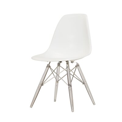 Khang Side Chair Color: White/Clear
