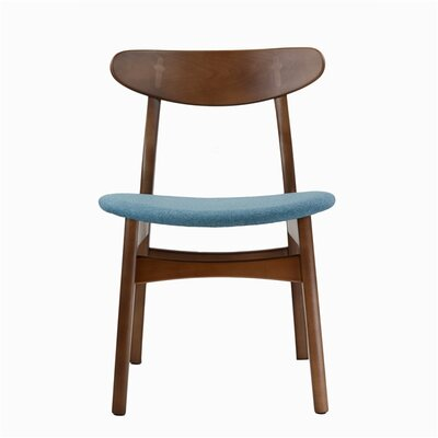 Dylan Upholstered Dining Chair Upholstery Color: Blue