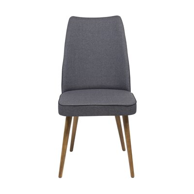 Edwin Upholstered Dining Chair Upholstery Color: Gray