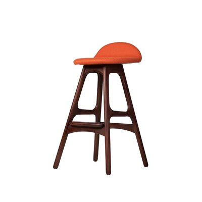 25.5 Bar Stool Seat Color: Orange