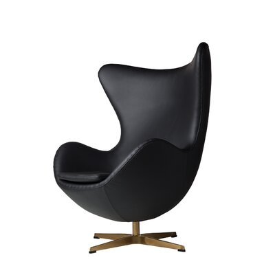 Oliviana Leather Swivel Lounge Chair