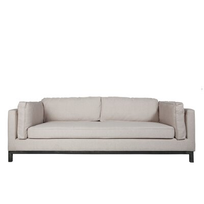 Claribel Standard Sofa Upholstery: Natural White